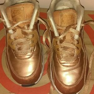 Nike Air Max 90 Rose gold sneakers girls size 2.5